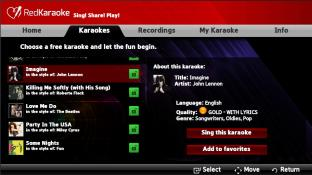 Red Karaoke screenshot1