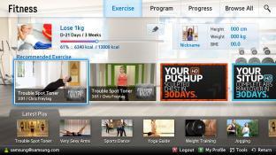 Fitness-Samsung Smart Content screenshot