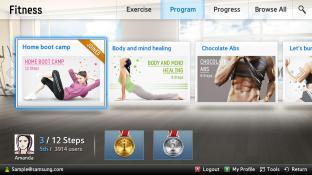 Fitness-Samsung Smart Content screenshot1