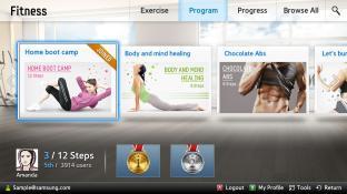 Fitness-Samsung Smart Content screenshot1
