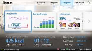 Fitness-Samsung Smart Content screenshot2