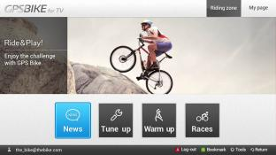 GPSBike for TV screenshot