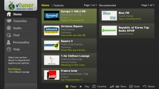 vTuner internet radio screenshot
