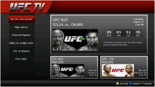 UFC.TV screenshot