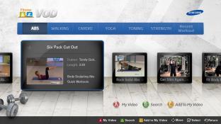 Fitness VOD screenshot